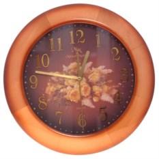 Круглые настенные часы с цветами