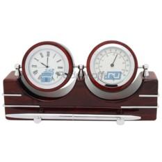 Настольный прибор Комфорт (часы, термометр, ручка)