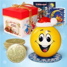 Набор с новогодней свечой «Смайлик»