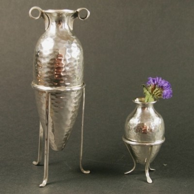 Парные серебряные вазы «Амфоры»