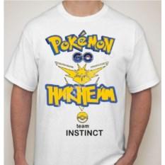 Мужская футболка (ваш никнейм) Покемон го team instinct