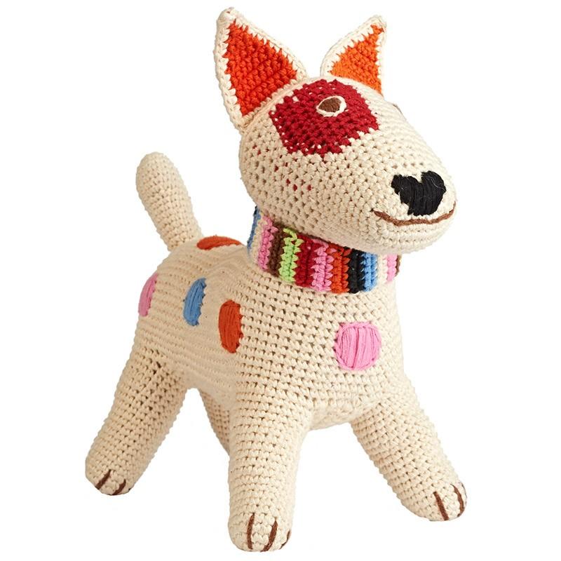 Игрушка вязаная Terrier Beige