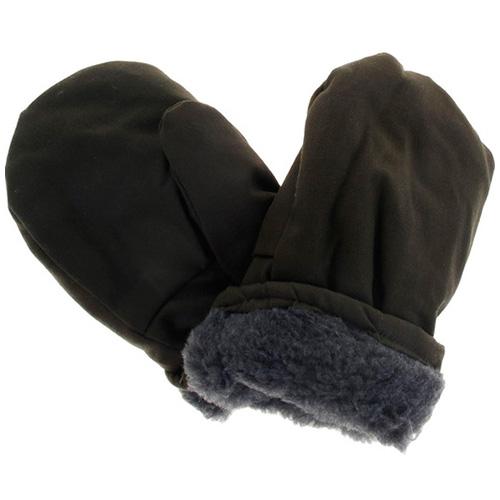 Утепленные армейские рукавицы с искусственным мехом