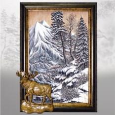 Картина из бересты Таежные звери