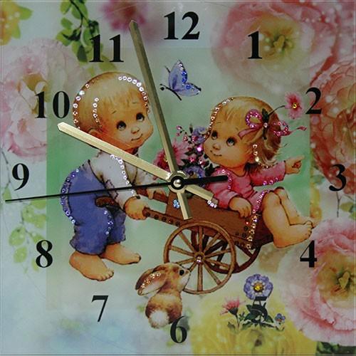 Часы с кристаллами Swarovski Потехе час