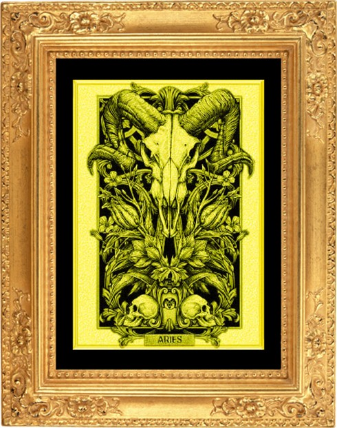 Картина из золота Овен