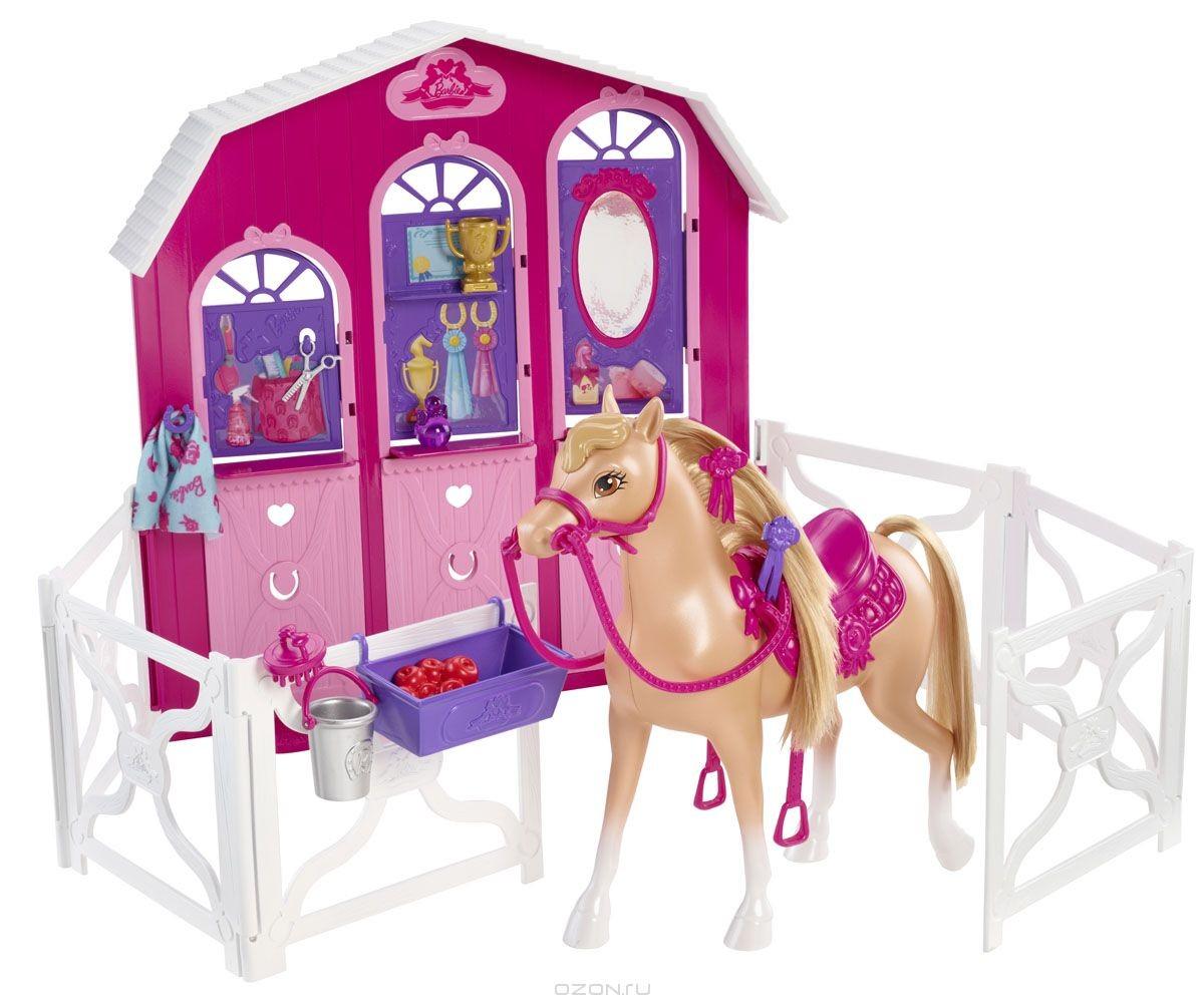 Игровой набор Барби. Конюшня и лошадь