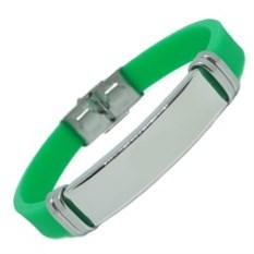 Зеленый каучуковый браслет