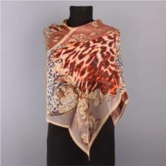 Женский шарф с леопардовым узором и орнаментом Marina Deste