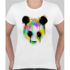 Женская футболка Панда, краска