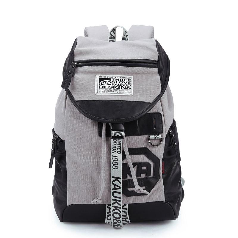 Большой серый городской рюкзак