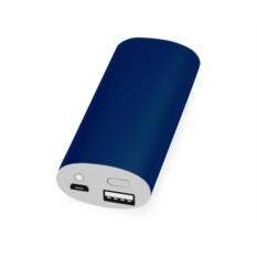 Синее портативное зарядное устройство Квазар 4400 mAh