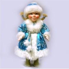 Фигурка из ткани Снегурочка в валенках