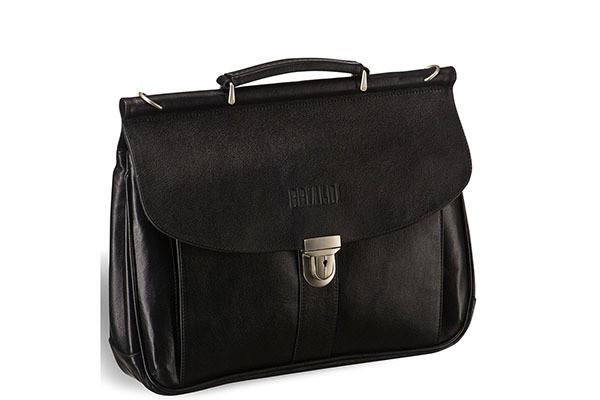 Классический черный портфель Brialdi Bergamo