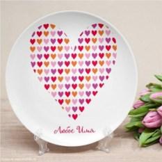 Именная тарелка Диско
