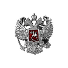 Серебряный значок Двуглавый орел
