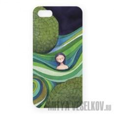 Чехол для IPhone 5 Девочка в зеленых волнах