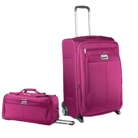 Расширяемый чемодан и сумка Carlton