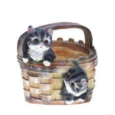 Кашпо Котята в корзине