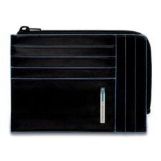 Черный футляр для карт Piquadro Blue Square