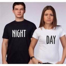 Футболки для двоих влюбленных Night and Day