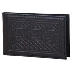 Черная карманная визитница из натуральной кожи