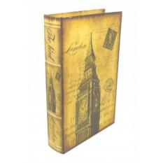 Большая деревянная книга-шкатулка Лондон