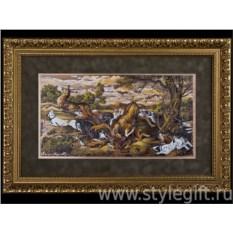 Панно-гравюра Охота на оленя