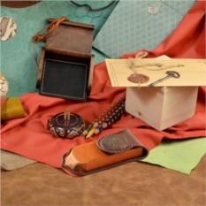 Коричневый кожаный футляр для очков M.Studio