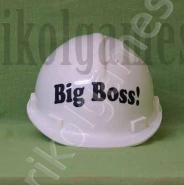Каска строительная с надписью Big Boss!