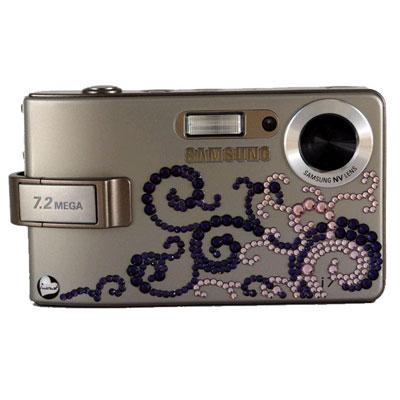 Фотоаппарат Samsung i7 silver со стразами