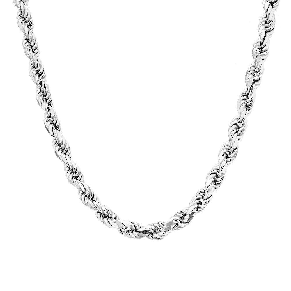 Мужская цепь из серебра пустотелая плетение Веревка