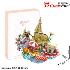 3D пазл Cubic Fun Городской пейзаж - Париж