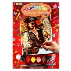 Малая картина по номерам с акриловыми красками «Пират»