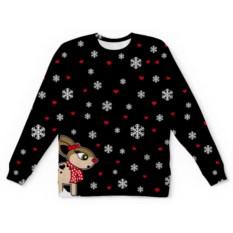 Свитшот унисекс с полной запечаткой Новогодний свитер