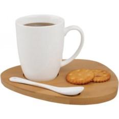 Чайная пара: чашка на 250 мл с подставкой и ложкой