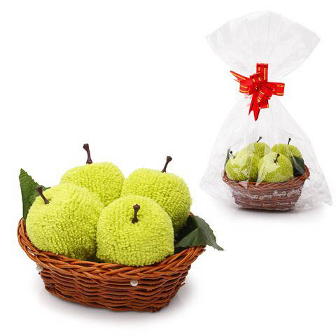 Полотенца «Яблочки в корзинке»