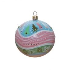 Новогодний шар с кристаллами Сваровски №5
