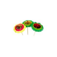Зонтики для коктейлей на палочках Тропические