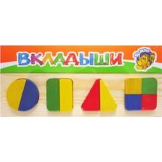Игрушка деревянная рамка-вкладыш Геометрия