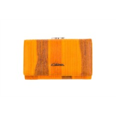 Женский оранжевый кожаный кошелек G.Ferretti