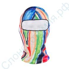 Лыжная маска-балаклава с рисунком Цветной всплеск