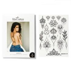 Татуировка переводная Sasha Tattooing Lotus, лист А4