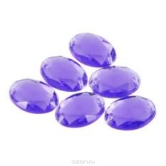 Пришивные стразы Астра, акриловые, овальные, цвет: фиолетовый, 6 шт.