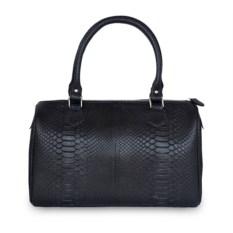 Черная женская сумка из кожи питона