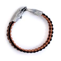 Коричневый браслет с головой змеи Urobos