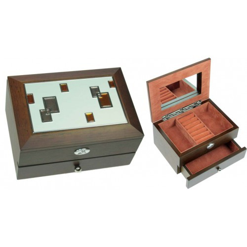 Двухъярусная ювелирная шкатулка-фоторамка MORETTO