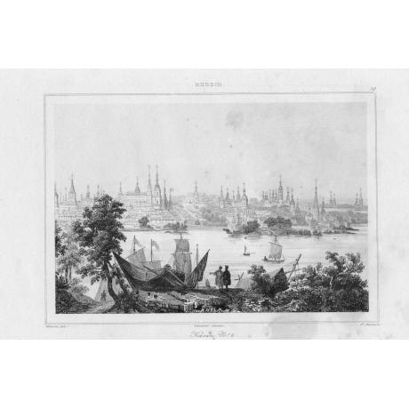 Гравюра «Панорамный вид Казани 1820-х годов»