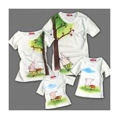 Семейные футболки Хочу шарлотку, для родителей и сына