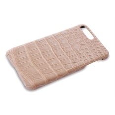Кремовый чехол из кожи крокодила на Iphone 7